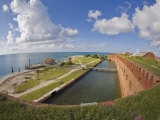 View Along the Brick Walls and Moat at Fort Jefferson Photographic Print by Mike Theiss