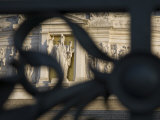 View of the Victor Emmanuel II Monument Through Wrought Iron Photographic Print by Scott Warren