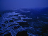 Blue Night Falls on a Snow-Covered Canyon Photographic Print by Michael Nichols