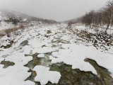 Frozen and Snow-Covered River in New Hampshire Photographic Print by Mike Theiss
