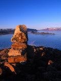 Rocks Overlooking Arctic Bay Photographic Print by Nick Norman
