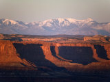 Henry Mountains from Green River Overlook on the Island-In-The-Sky Photographic Print by Scott Warren