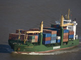 Container Ship on the Mississippi River Photographic Print by Tyrone Turner
