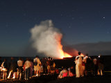 Tourists Watch the Newest Land on Earth Being Formed by Kilauea Photographic Print by Steve & Donna O'Meara