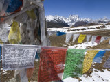 Prayer Flags Atop a 4000-Meter Pass Between Deqin and Shangri-La Photographic Print by Scott Warren