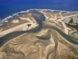 Mouth of a River Creates a Sand Delta on Mozambique's North Coast Photographic Print by Michael Polzia