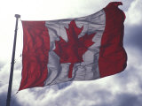 Canadian Flag Photographic Print by Nick Norman