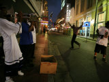 Musicians Playing in the French Quarter at Night Photographic Print by Tyrone Turner