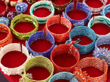 Colorful Bracelets Adorn a Vendor's Table in Downtown Charlottesville Photographic Print by Charles Kogod