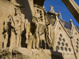 Sculpture on the Outside of the Church of La Sagrada Familia Photographic Print by Scott Warren