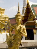 Gilded Statues at the Grand Palace, Bangkok Photographic Print by Rebecca Hale