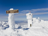 Sign Sits at 6,288 Feet at the Summit of Mount Washington Photographic Print by Mike Theiss