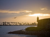 Silhouette of El Morro at Sunset Photographic Print by Taylor S. Kennedy