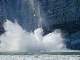 Johns Hopkins Glacier Calving at Glacier Bay National Park Photographic Print by Michael Melford