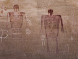 Prehistoric Anasazi Pictograph Panel, known as the Big Man Panel Photographic Print by Scott Warren