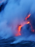 Hydrochloric Acid Cloud Fills the Air When the Ocean Hits Hot Lava Photographic Print by Steve & Donna O'Meara