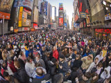 Large Crowd Gathered in Times Square for the New Year's Celebration Photographic Print by Mike Theiss