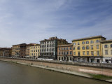 Buildings Along the Arno River in Pisa Photographic Print by Scott Warren