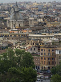 View of Central Rome from a Hilltop South of the Vatican Photographic Print by Scott Warren