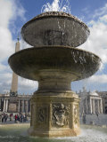Fountain in Saint Peter's Square Photographic Print by Scott Warren