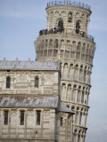 Tourists on the Leaning Tower of Pisa and a Part of the Duomo Photographic Print by Scott Warren