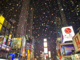 Confetti Falls from the Sky at Midnight During New Years Celebrations Photographic Print by Mike Theiss