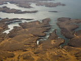 Aerial View of the Coast of Lake Nasser and Sky Reflections Photographic Print by Michael Polzia