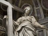 Female Statue in Saint Peter's Basilica Photographic Print by Scott Warren