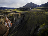 Scenic Iceland Landscape with Mountains, Canyons, and Waterfalls Photographic Print by Mattias Klum