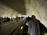 Metro Escalator after the Inauguration of Barack Obama Photographic Print by Scott Warren