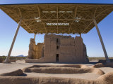 Large Prehistoric Hohokam Ruin Protected by a Large Roof Structure Photographic Print by Scott Warren