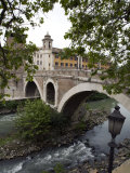 62 B.C. Fabricio Bridge Leading to the Tiber Island Photographic Print by Scott Warren