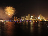 Downtown Miami on the Fourth of July Photographic Print by Raul Touzon