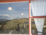 Bike Tourist Pass the Wedderburn Pub on the Otago Rail Trail Photographic Print by Bill Hatcher