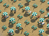 Pattern of Beach Umbrellas and Chairs Photographic Print by Michael Polzia