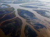 Atchafalaya River Delta, Only Louisiana Area Where Land Is Increasing Photographic Print by Tyrone Turner