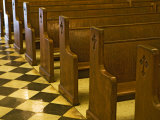 Church Pews in St Louis Cathedral Photographic Print by Taylor S. Kennedy