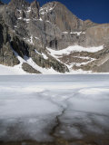 Ice and Snow Still on Chasm Lake and Longs Peak on First Day of Summer Photographic Print by Scott Warren