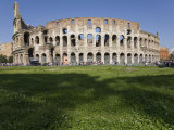 Tourists at the Colosseum in Rome Photographic Print by Scott Warren