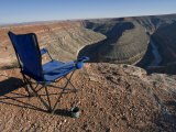 Camp Chair and Coffee Cup at Goosenecks State Park, Utah Photographic Print by Scott Warren