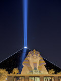 Spotlight from the Luxor in Las Vegas Pierces the Night Sky Photographic Print by Jim Richardson