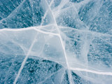 Close Up Detail of Lake Ice Photographic Print by John Dunn