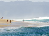Surf Pounds the Shore at Sunset Beach Fotografisk tryk af Charles Kogod