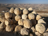Round Stones Used as Defense of Herodium, Herod's Mausoleum Photographic Print by Michael Melford