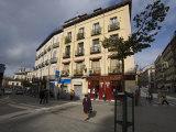Street Scene in Downtown Madrid Photographic Print by Scott Warren
