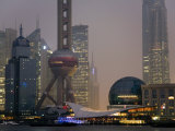 Pudong New Area and Oriental Pearl Tower from across the Huangpu River Photographic Print by Scott Warren