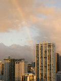 Rainbow in the Sky over Honolulu, Hawaii Photographic Print by Charles Kogod