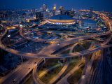 Aerial of the Superdome in the Downtown New Orleans Photographic Print by Tyrone Turner