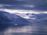 Baffin Island in the Fall with Glacier Coming Down to the Water Photographic Print by Nick Norman