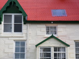 British-Influenced Architecture of Stanley, Falkland Islands Fotografie-Druck von Kent Kobersteen